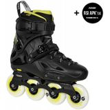 Powerslide Imperial One 80 - Black/Yellow