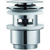 Alape wastafel plug met overloop clicwaste 6/4 VT-1 chroom