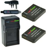 2 x DMW-BCM13 accu's voor Panasonic - Charger Kit + car-charger - UK version