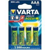 4 x AAA Varta Ready to use batterijen - 800mAh