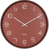 Karlsson Wandklokken Wall clock Lofty iron matt, D. 40cm Rood