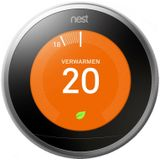 Nest Learning Thermostat 3e Gen Slimme thermostaat RVS