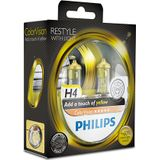 Philips colorvision h4 gele autolamp 12342cvpys2