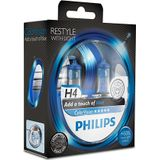 Philips colorvision h4 blauwe autolamp 12342cvpbs2