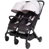 Tweeling buggy FreeON City Twin Zwart-Grijs