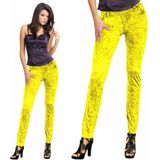 Denim Legging Neon Geel