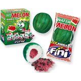 Water meloen kauwgom- Melon kauwgom-bubble gum- gluten vrij- 200 stuks- vegetarisch