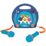 Baby Shark Karaoke-CD-speler met 2 microfoons