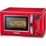 Severin MW 7893 - retro magnetron met grill - rood