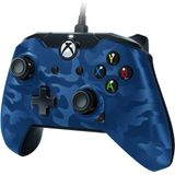 PDP controller - Official Licensed - Xbox One + Windows 10 - Blauw Camo