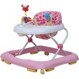 Cabino Inklapbare Loopstoel Met Speelset – Roze