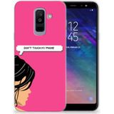 Samsung Galaxy A6 Plus (2018) Silicone-hoesje Woman Don't Touch My Phone