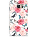 Samsung Galaxy S7 Hard Case Butterfly Roses