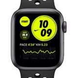 Apple Watch Nike Series 6 (GPS) met sportbandje van Nike— Kast van Space Gray aluminium (44 mm) - Zwart