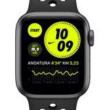 Apple Watch Nike SE (GPS) met sportbandje van Nike— Aluminium kast in Space Gray (44 mm) - Zwart