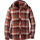 Outdoor Research Women'  Feedback Flannel Hoodie Bluse red