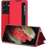 Samsung Galaxy S10 Plus - Smart View LED Flip Case Cover Hoesje Rood