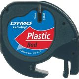 DYMO LetraTAG Plastic tape Rood
