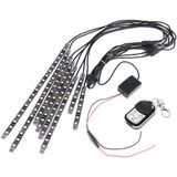 8 stks RGB LED Motorfiets Frame Glow Rock Lights Decoratie Auto Flexibele Neon Strips Kit