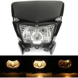 12V Motorcycle Fairing Koplamp Lamp Hi / Lo Beam Street Fighter Vuil Bike Universal