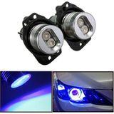 12V LED koplamp Angel Eyes Halo Rings Gloeilamp Blauw Licht voor BWM E90 E91