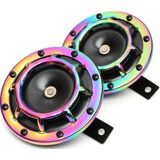 12V 139-170dB Colorful / Green Horn Compact Super Tone Loud Blast roestvrij staal