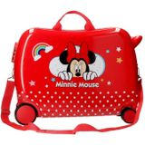 Minnie Mouse ride-on koffer 34 liter rood
