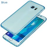 Galaxy S6 Full protection siliconen blauw transparant voor 100% bescherming