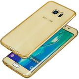 Galaxy S6 Full protection siliconen goud transparant voor 100% bescherming