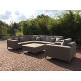 Loungeset Ancona III RVS Taupe Outdoorinstyle
