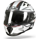 HJC I70 Cravia MC10SF Wit Grijs Rood Integraalhelm L