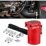 Universal Racing Aluminium Oil Catch Can Oil Tank Breather Tank, Capaciteit: 300ML (rood)