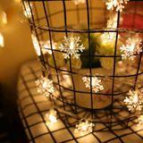 10 m Sneeuwvlok Vorm String Decoratie Verlichting, 70 LED met Extend Interface, AC 220 V (Warm Wit)