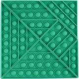 2 STKS Kind Hoofdrekenen Desktop Educatief Speelgoed Siliconen Tangram Drukbordspel (Groen)