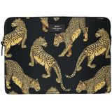 Wouf laptophoes 13 inch black leopard
