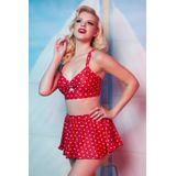 Collectif Clothing - 50s Bikinis (Rood/Wit)