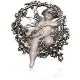 Zilveren broche en hanger Amor