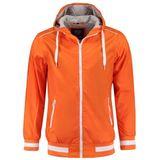 Oranje winddichte jas met capuchon voor heren 2XL (44/56)