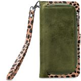 Mobilize 2in1 Gelly Wallet Zipper Case Samsung Galaxy A70 Olive/Leopard