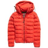 Super Dry Boston Microfiber Jacket Dames Casual Jas Rood