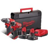 Milwaukee M12 FPP2A-602X Accu Powerpack 2-delig 12V 6.0Ah Li-Ion M12 FUEL™ in HD-Box - 4933459810