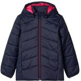 NAME IT KIDS gewatteerde winterjas Mabas donkerblauw