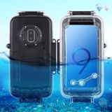 HAWEEL 40m/130ft Waterproof Diving Housing Photo Video Taking Underwater Cover Case for Galaxy S9+ Only Support Android 8.0.0 or below(Black)