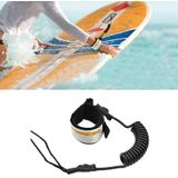 Surf Bodyboard Safety Hand Rope TPU Surfboard Paddle Towing Rope The Length After Stretching: 1.6m(Black)