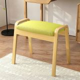 Modern Minimalist Makeup Stool Bedroom Solid Wood Chair Home Bench(Wood Grass Green)