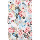 For Huawei MediaPad M3 Lite 8.0 Flower Pattern Cloth Surface Horizontal Flip Leather Protective Case with Holder & Card Slots & Wallet & Photo Frame
