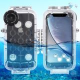 PULUZ 40m/130ft Waterproof Diving Housing Photo Video Taking Underwater Cover Case for iPhone XR(Transparent)