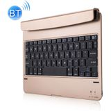 P1305 For iPad Air 2 & Air 1 / Pro 9.7 inch & 2017 iPad & 2018 iPad Plug-in Card Slot Plastic Bluetooth Keyboard Protective Cover with Stand Function (Gold)