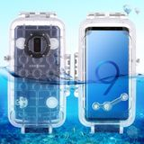 PULUZ 40m/130ft Waterproof Diving Housing Photo Video Taking Underwater Cover Case for Galaxy S9+ Only Support Android 8.0.0 or below(Transparent)