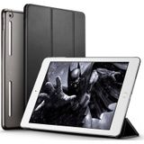 ESR Yippee Color Plus Series Soft Edge Three-folding Magnetic Leather Case for iPad 9.7 (2018) / (2017), with Sleep / Wake-up Function(Black)